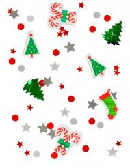 Weihnachtliches Konfetti silber-rot-grün 34g