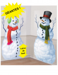 2 Schneemann Wandposter aus Kunststoff