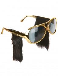 Sonnenbrille mit Koteletten - Rock