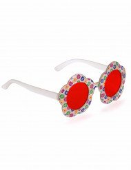 Brille in Blumenform