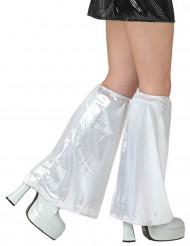 Weiße Disco Beinstulpen für Erwachsene