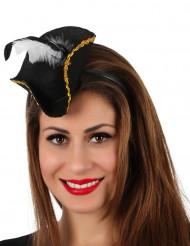 Mini Piratenhut mit Haarreif