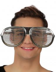 Riesen Brille silbern für Erwachsene