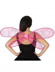 Rosa Feenflügel für Erwachsene
