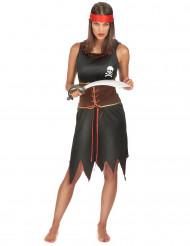 Gefürchtete Piratin Kostüm für Damen bunt