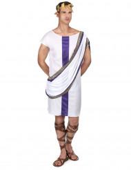 Elegantes Römerkostüm für Herren violett-goldfarben-weiss