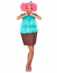 Cupcake Kostüm für Damen - türkis