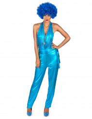 Blaues Disco-Kostüm für Damen