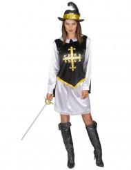 Musketier Kostüm für Damen mit schwarzem Hut
