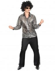 Disco-Kostüm für Herren in silber