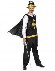 Musketier Kostüm für Herren mit schwarzem Hut