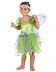 Feen-Kostüm grün für Mädchen