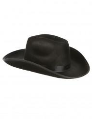 Schwarzer Cowboy-Hut für Erwachsene.