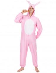 Rosa Hase-Kostüm für Herren