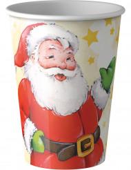 Pappbecher mit dem Weihnachtsmann