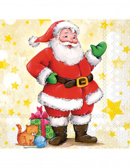 20 Weihnachtsmann Papier Servietten
