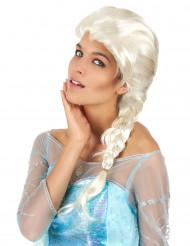 Blonde Perücke mit Zopf für Frauen