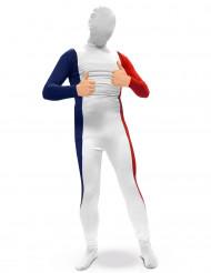 Zweite Haut Kostüm Frankreich für Erwachsene
