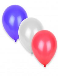 50 dreifarbige Luftballons - blau - weiß - rot
