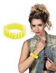 Neongelb Punk-Armband für Erwachsene