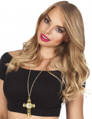 Goldene Kreuz-Halskette für Damen
