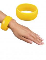 Breiter Armreif in gelb