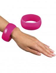 Rosa und breites Armband für Damen