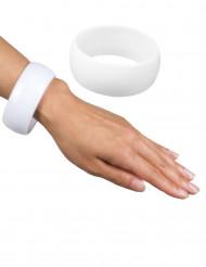 Weißes und breites Armband für Damen