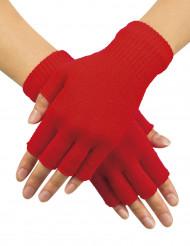 Kurze Fingerhandschuhe in Rot für Erwachsene