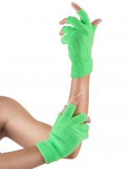 Kurzhandschuhe in grün flureszierend für Erwachsene