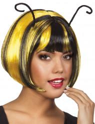 Kurze Bienen Perücke für Damen gelb schwarz