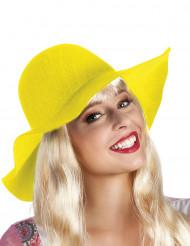 Gelber sommerlicher Hut für Damen