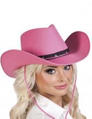 Cowgirl Damenhut rosa-schwarz