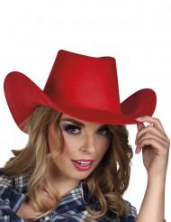 Roter Cowboy Hut für Erwachsene