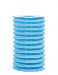 Lampion aus Papier in blau