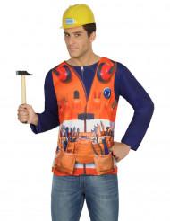 Bauarbeiter T-Shirt für Herren