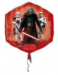 Alu-Luftballon Star Wars VII™ rot-blau
