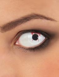 Weiße blutige Kontaktlinsen