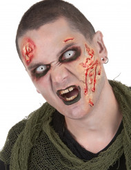 Zombie Make-Up-Set mit Kontaktlinsen