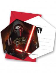 6 Einladungskarten mit Umschlag Star Wars VII™