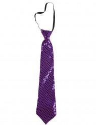 Lilafarbene Krawatte für Erwachsene