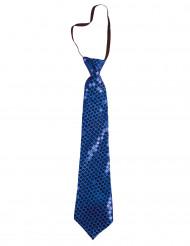 Blau glitzernde Krawatte