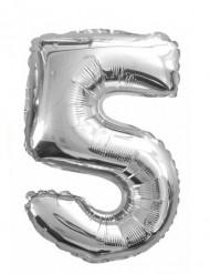 Metallener Luftballon Ziffer 5