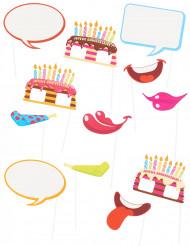 Photobooth Accessoire Set - Geburtstag