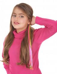 Regenbogen-Haarsträhne