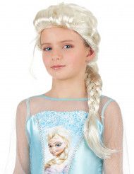 Blonde Perücke mit Zopf für Mädchen