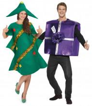 Weihnachtsbaum und Geschenk Kostüm für Paartner