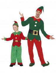Weihnachtswichtel Paarkostüm für Vater & Sohn