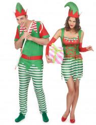 Paartner Weihnachts-Elfen Kostüm