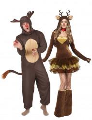 Rentier Kostümset für Pärchen